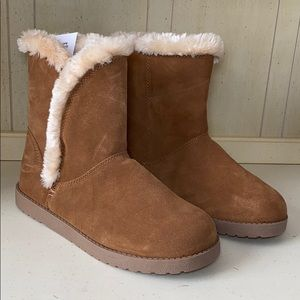 Tan suede faux fur winter boot size size 11